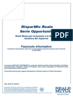 Fascicolo informativo - RispaMio Reale Serie Opportunità - 486A - 201402 FS