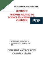Theories of Science Edu