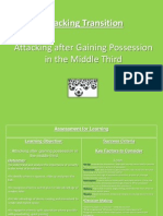 attacking after gaining possession in the middle third  counter attack