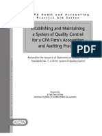 SM System of Quality Control Practice Aid