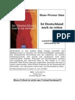 Sinn, Hans-Werner - Ist Deutschland Noch Zu Retten