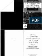 FranCois de Polignac Cults, Territory, And the Origins of the Greek City-State 1995