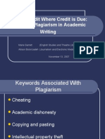 Avoiding Plagiarism in Academic Writing