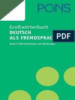 PONS - Großwörterbuch