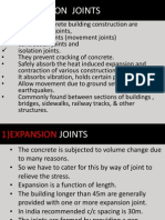 Various Joints in Construction.