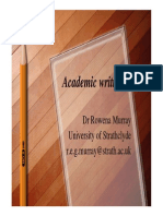 Academic Writing-Dr Rowena Murray
