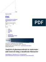 Analysis of pharmaceuticals in wastewater and removal using a membrane bioreactor