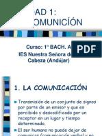 UNIDAD 1 - LA COMUNICACIÓN