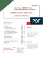Italia Economia a Fine 2013