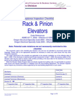Rack and Pinion Elevator Checklist