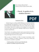 Hayek le gardien de la tradition libérale