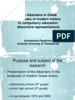The Albanians in Greek textbooks of modern history in compulsory education