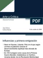Arte y Críticas, Emanuel Lévinas