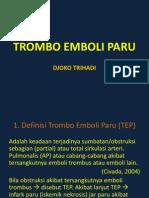 TROMBO EMBOLI PARU
