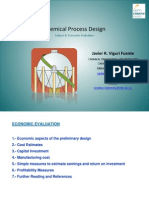 Chemical Process Design - Economic Evaluation