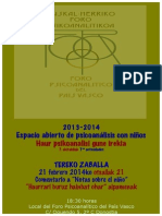 7º Espacio An. Niños Tereko 2013-14