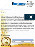 (12) Proposal Letter for IFFCO