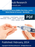 Blood Glucose Device (SMBG) (Test Strips, Lancet, Meter) Market & Forecast - Worldwide