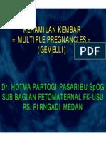 Rps138 Slide Kehamilan Kembar Multiple Pregnancies