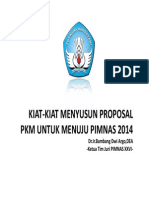 Kiat Kiat Menyusun Proposal PKM Bambang Dwi Argo
