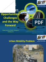 Planned BRT; Opportunities, Challenges and the Way Foward