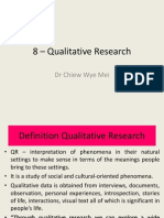 8 – Qualitative Research