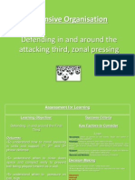 defending in and around the attacking third zonal pressing