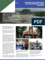 XU DRRM Program - leaflet (2013)