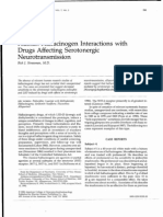 Human Hallucinogen Interactions With Drugs Affecting Serotonergic Neurotransmission