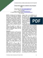 5.a Framework for Wireless Sensor Network Localization Using Triangular Flips