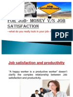 for job - money vs satisfaction