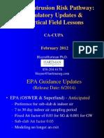 Vapor Intrusion Risk Pathway Regulatory Updates & Practical Field Lessons