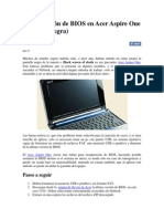 Recuperación de BIOS en Acer Aspire One