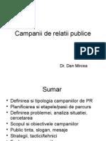Campanii de Relatii Publice