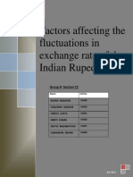 Factors Affecting the Fluctuations in Exchange Rate of the Indian Rupee Group 9 C2
