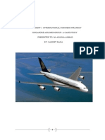 singapore airlines report on strategic alliance and political risk