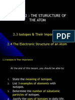 Isotopes and Electronic structure of an atom