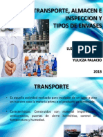 Transporte Almacenamiento Inspeccion y Tipos de Envases