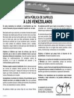 Carta Pública Capriles a los venezolanos