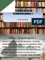 Aplikasi Hukum 1 Termodinamika