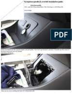 2010-Up Prius HB Navigation Speedlock Override Installation Guide