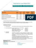 WCL FS Local Rates 2013 CLP Price List