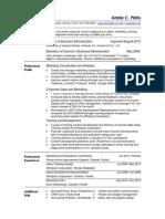 marketing resume entry level