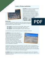 Erosión y formas resultantes