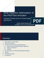 Multiobjective Optimisation of the PSATSim Simulator Using Pareto and Non-Pareto Algorithms