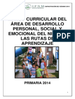 Marco curricular del Área de Desarrollo Personal, Social y Emocional del niño en las Rutas del Aprendizaje