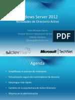 Webcast Windows Server 2012 Novedades de Directorio Activo 10-08-14