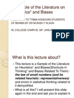 Literature on Heuristics Hlbba