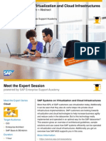 SAP Systems on Virtualization and Cloud Infrastructures