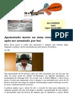 Aposentado morre na zona rural na Paraíba após ser arrastado por boi